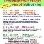 Tábory léto MŠ 2017 -